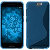 Silikon Hülle One A9 S-Style blau + 2 Schutzfolien