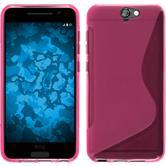 Silikon Hülle One A9 S-Style pink + 2 Schutzfolien