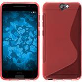 Silikon Hülle One A9 S-Style rot + 2 Schutzfolien
