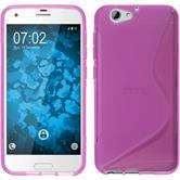 Silikon Hülle One A9s S-Style pink Case