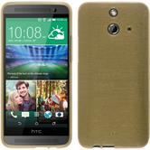 Silicone Case for HTC One E8 brushed gold