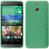 Silicone Case for HTC One E8 brushed green