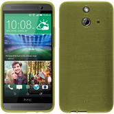 Silicone Case for HTC One E8 brushed pastel green