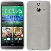 Silicone Case for HTC One E8 brushed white