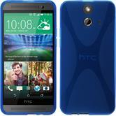 Silikon Hülle One E8 X-Style blau + 2 Schutzfolien