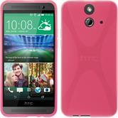 Silikon Hülle One E8 X-Style pink + 2 Schutzfolien
