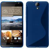 Silikon Hülle One E9+ S-Style blau + 2 Schutzfolien
