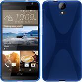 Silikon Hülle One E9+ X-Style blau + 2 Schutzfolien