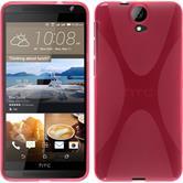 Silikon Hülle One E9+ X-Style pink + 2 Schutzfolien
