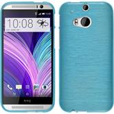 Silicone Case for HTC One M8 brushed blue