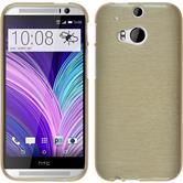 Silicone Case for HTC One M8 brushed gold