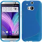 Silikon Hülle One M8 S-Style blau