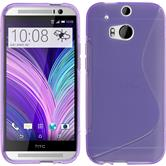 Silicone Case for HTC One M8 S-Style purple