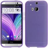 Silicone Case for HTC One M8 transparent purple