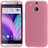 Silicone Case for HTC One M8 transparent pink