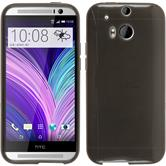 Silicone Case for HTC One M8 transparent black
