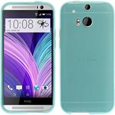 Silicone Case for HTC One M8 transparent turquoise