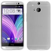Silicone Case for HTC One M8 transparent white