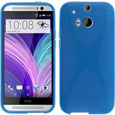 Silicone Case for HTC One M8 X-Style blue