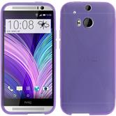 Silicone Case for HTC One M8 X-Style purple