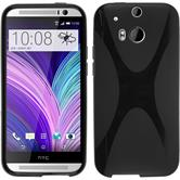 Silicone Case for HTC One M8 X-Style black
