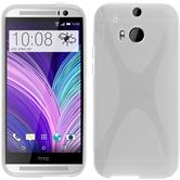 Silicone Case for HTC One M8 X-Style transparent