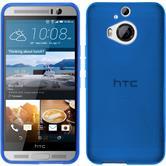 Silikon Hülle One M9 Plus X-Style blau + 2 Schutzfolien