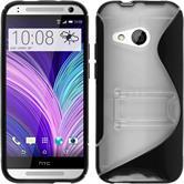Silikonhülle für HTC One Mini 2  schwarz