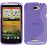 Silicone Case for HTC One X S-Style purple