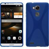 Silikon Hülle Ascend Mate 7 X-Style blau + 2 Schutzfolien