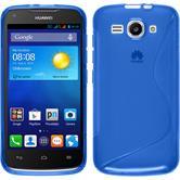 Silikon Hülle Ascend Y520 S-Style blau + 2 Schutzfolien