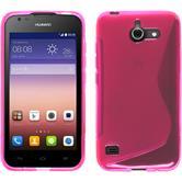 Silikonhülle für Huawei Ascend Y550 S-Style pink