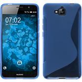 Silikon Hülle Enjoy 5 S-Style blau + 2 Schutzfolien