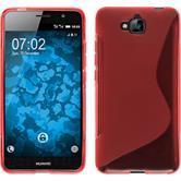 Silikon Hülle Enjoy 5 S-Style rot + 2 Schutzfolien