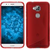 Silikon Hülle G8 S-Style rot + 2 Schutzfolien