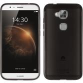 Silikonhülle für Huawei G8 transparent schwarz