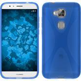 Silikon Hülle G8 X-Style blau + 2 Schutzfolien
