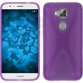 Silikon Hülle G8 X-Style lila + 2 Schutzfolien