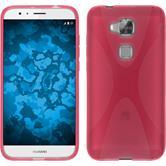 Silikon Hülle G8 X-Style pink + 2 Schutzfolien