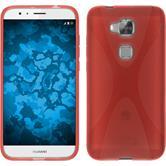 Silikon Hülle G8 X-Style rot + 2 Schutzfolien