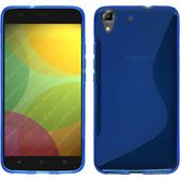 Silikon Hülle Honor 4A S-Style blau
