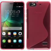 Silikonhülle für Huawei Honor 4c S-Style pink