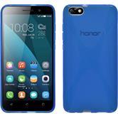 Silikon Hülle Honor 4x X-Style blau + 2 Schutzfolien