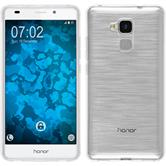 Silikon Hülle Honor 5C transparent Crystal Clear + 2 Schutzfolien