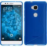 Silikonhülle für Huawei Honor 5X S-Style blau