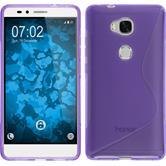Silikon Hülle Honor 5X S-Style lila Case
