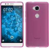 Silikon Hülle Honor 5X transparent rosa Case
