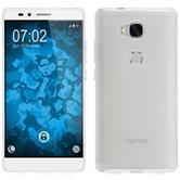 Silikon Hülle Honor 5X transparent weiß Case