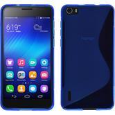 Silikon Hülle Honor 6 S-Style blau