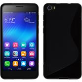 Silikonhülle für Huawei Honor 6 S-Style schwarz